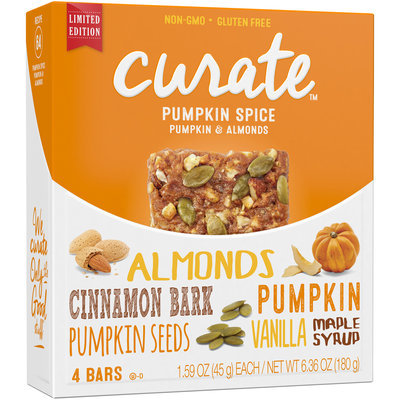 Curate™ Pumpkin Spice Pumpkin & Almonds Snack Bars 4-1.59 oz. Bars