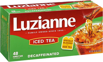 Luzianne® Decaffeinated Iced Tea Family Size 48 ct. Bag.