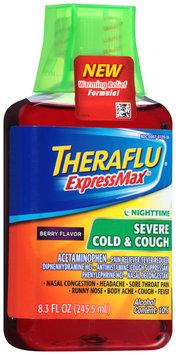 Theraflu® ExpressMax™ Nighttime Berry Flavor Severe Cold & Cough Liquid 8.3 fl. oz. Bottle