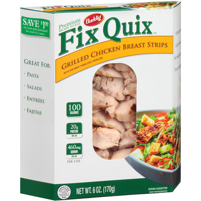 Buddig™ Fix Quix™ Grilled Chicken Breast Strips 6 oz. Box