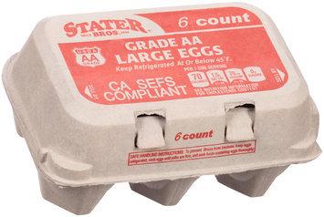 Stater Bros.® Grade AA Large Eggs 6 ct Carton