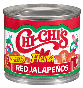 Chi-Chi's® Wheels Fiesta Red Jalapenos 7.75 oz. Can