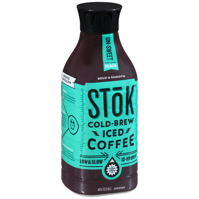 Stok™ Un-Sweet Black Cold-Brew Iced Coffee 48 fl. oz. Bottle