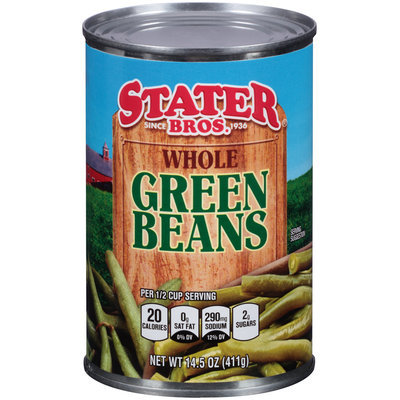 Stater Bros.® Whole Green Beans 14.5 oz. Can