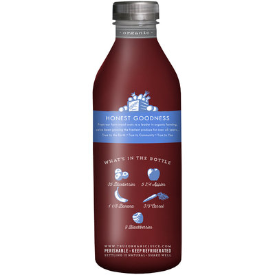 True Grimmway Farms™ Organic Blended Blue™ Juice 28 fl. oz. Bottle