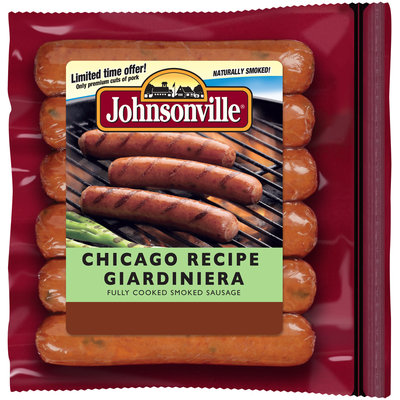 Johnsonville Chicago Recipe Giardiniera Smoked Sausage  14oz zip pkg (101721)