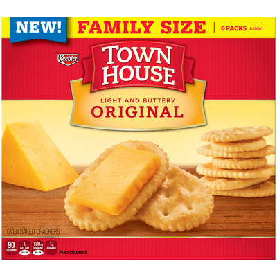 Keebler® Town House® Original Light and Buttery Oven Baked Crackers 20.7 oz. Box