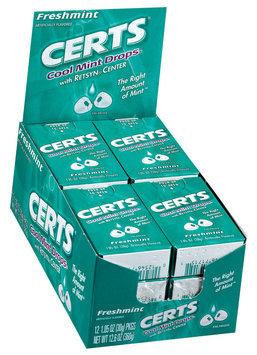 Certs Freshmint W/Retsyn Center Cool Mint Drops