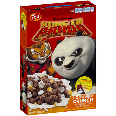 Post® DreamWorks Kung Fu Panda Po Power Crunch™ Cereal 12 oz. Box