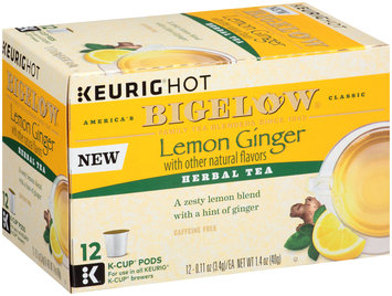 Keurig Hot® Bigelow® Lemon Ginger Herbal Tea 12-0.11 oz. Box