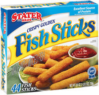 Stater Bros. Crispy Golden Made W/Minced Fish 44 Ct Fish Sticks 25 Oz Box