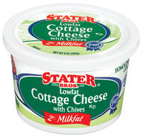 Stater Bros. Lowfat W/Chives 2% Milkfat Cottage Cheese 8 Oz Tub