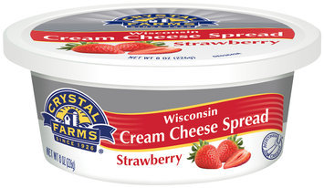 Crystal Farms® Wisconsin Strawberry Cream Cheese Spread 8 oz. Tub