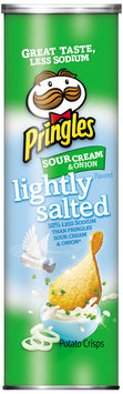 Pringles® Sour Cream & Onion Flavored Lightly Salted Potato Crisps 5.96 oz. Can