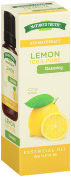 Nature's Truth® Aromatherapy Lemon 100% Pure Essential Oil 0.51 fl. oz. Box