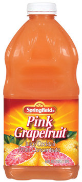 Springfield from Concentrate Pink Grapefruit Juice Cocktail 64 Fl Oz Plastic Bottle