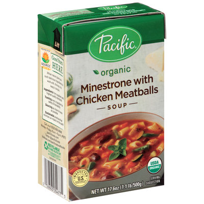 Pacific Organic Minestrone with Chicken Meatballs Soup