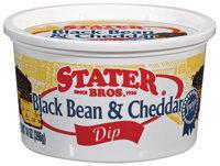 Stater Bros. Black Bean & Cheddar Dip 14 Oz Plastic Tub