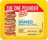Oscar Mayer Honey Shaved Ham Cold Cuts 16 oz. Tray