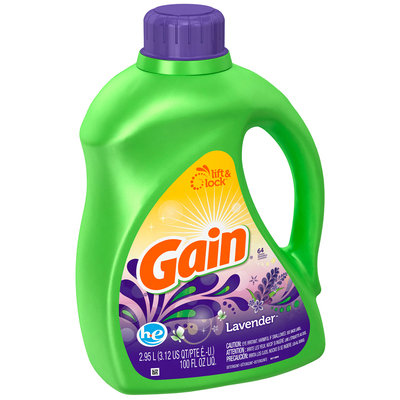 Gain with FreshLock HE Lavender Liquid Detergent 100 fl. oz.
