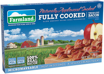 Farmland® Naturally Applewood Smoked Fully Cooked Thick Cut Bacon 2.1 oz. Package