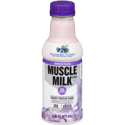 Muscle Milk® Smoothie Blueberry Flavor Yogurt Protein Shake 16 fl. oz. Bottle