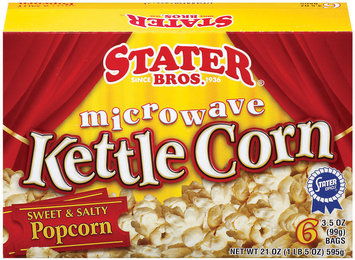Stater Bros. Kettle Corn 6 Ct Microwave Popcorn 21 Oz Box