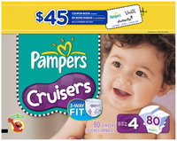 Pampers Cruisers Super Pack Size 4 Diapers 80 ct Box