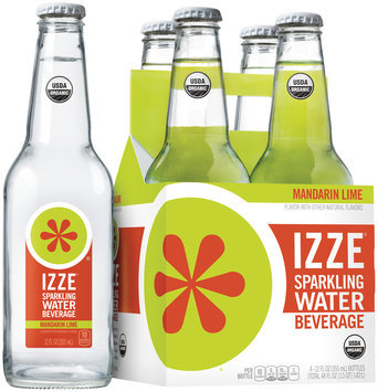 Izze® Mandarin Lime Sparkling Water Beverage 4-12 fl. oz. Bottles