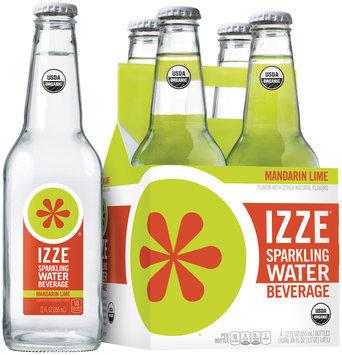 Izze® Mandarin Lime Sparkling Water Beverage 4-12 fl. oz. Bottles