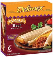Delimex Beef 6 Ct Tamales 24 Oz Box