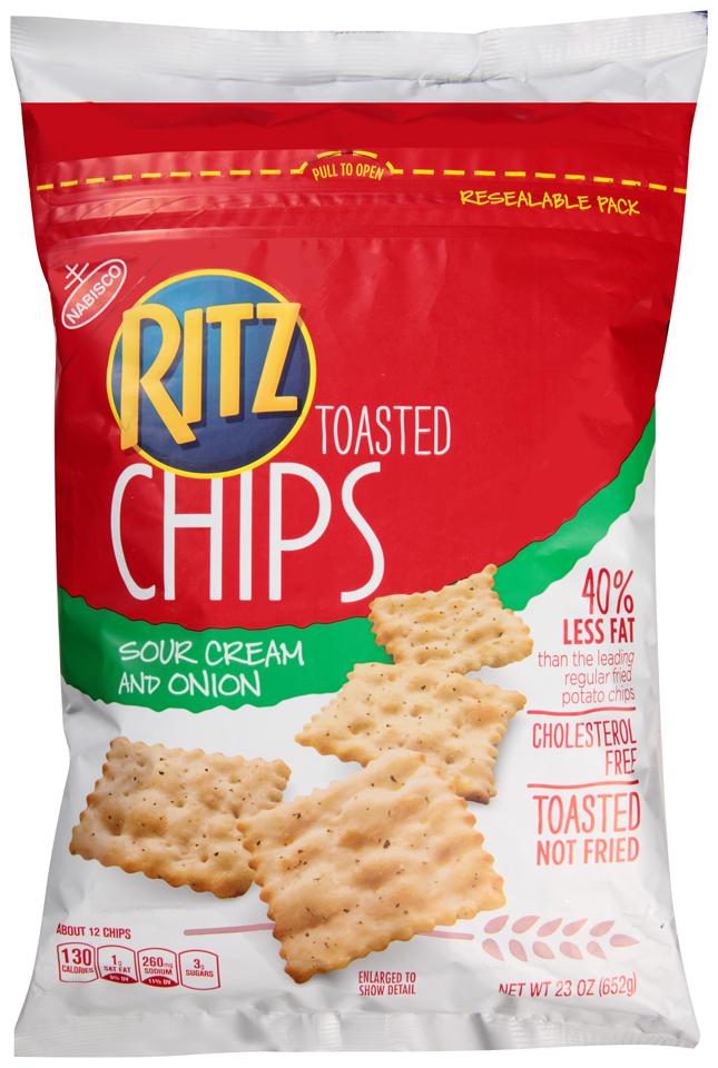 Nabisco Ritz Sour Cream & Onion Toasted Chips 23 oz. Bag