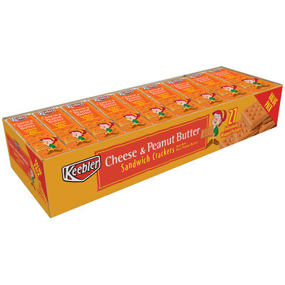 Keebler® Cheese & Peanut Butter Sandwich Crackers 27 ct Tray
