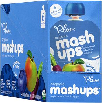 Plum Organics® Mashups™ Fruit & Veggie Blueberry Blitz Apple Sauce 6-3.17 oz. Pouches