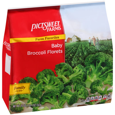 Pictsweet Farms® Farm Favorites Baby Broccoli Florets 20 oz. Stand Up Bag