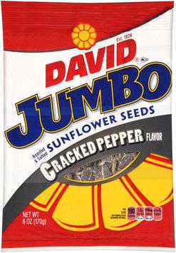 David® Jumbo Cracked Pepper Flavor Sunflower Seeds 6 oz. Bag