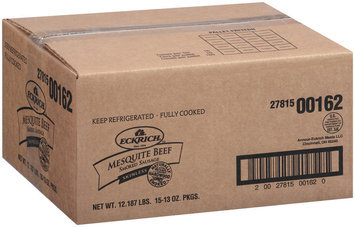 Eckrich Mesquite Beef Skinless Smoked Sausage Smoked Sausage Rope 13 Oz Package