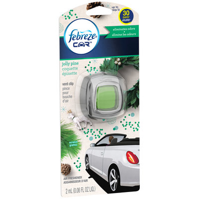 Car Febreze CAR Vent Clips Jolly Pine Air Freshener  (1 Count, 0.06 Oz)