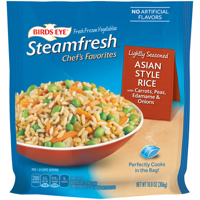 Birds Eye® Steamfresh® Chef's Favorites Asian Style Rice with Carrots, Peas, Edamame & Onions 10.8 oz. Bag