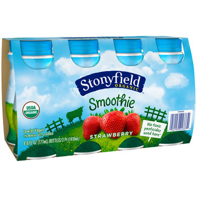 Stonyfield Organic™ Strawberry Yogurt Drink 8-6 fl. oz. Bottles