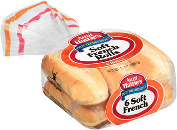 Aunt Hattie's® Soft French Enriched Rolls 15 oz. Bag