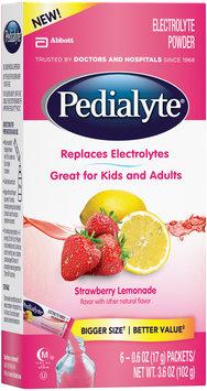 Pedialyte® Strawberry Lemonade Electrolyte Powder 6-0.6 oz. Packets