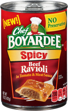 Chef Boyardee® Spicy Beef Ravioli in Tomato & Meat Sauce 15 oz. Can