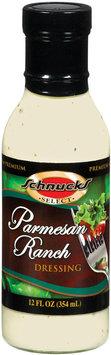 Schnucks Premium Parmesan Ranch Salad Dressing 12 Fl Oz Glass Bottle
