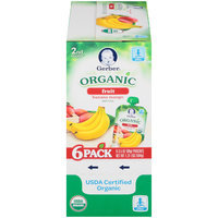 Gerber Organic 2nd Foods Fruit Banana Mango Baby Food 6-3.5 oz. Pouches