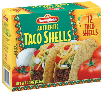 Springfield Authentic 12 Ct Taco Shells 4.5 Oz Box