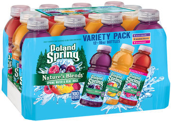 Poland Spring® Nature's Blends™ Spring Water & Real Juice Variety Pack 12-16 fl. oz. Bottles