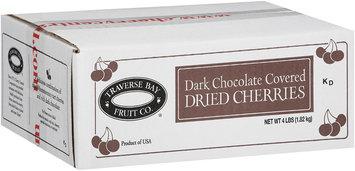 Traverse Bay Fruit Co.® Dark Chocolate Covered Dried Cherries 4 lb. Box.
