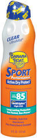 Banana Boat Spray Ultra Mist Sport Clear SPF 85 Sunblock 6 Oz Aerosol Can