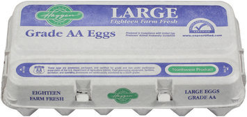 Haggen Large Farm Fresh Grade AA Eggs 18 Ct Carton